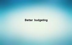 Better budgeting