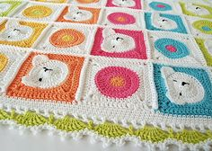 * This is a crochet pattern - not the finished item *  This unique and very cute, colorful teddy bear baby blanket would be a wonderful present for your precious baby, or a perfect baby shower gift! This blanket will put a smile on your baby's face. And a little white bear's army will keep your baby worm and safe.  This is a perfect project for advanced beginners who have mastered the basic stitches.  This 21 page pattern includes:  * Step by step instruction on how to make teddy bear…