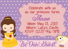 Belle Beauty and the Beast Party Invitation by LoveLucyBoutique, $12.00