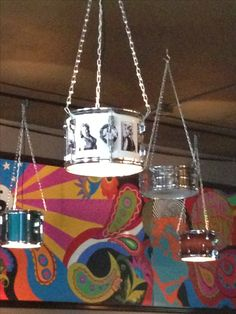 Drums for light fixtures. Cool idea.