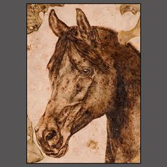 HORSE ART by Julie Bender, pyrography
