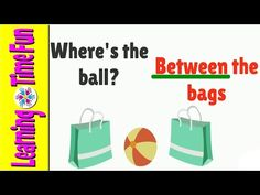 Easy English - Prepositions Of Place - YouTube Teach English To Kids, Teaching English, Learn English, English Prepositions, English Vocabulary, Kindergarten Literacy, Preschool Learning, Dolch Sight Words, Learning Time
