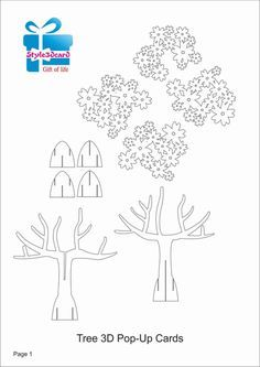 Tree 3D Pop UP Card/