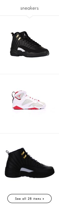 """""""sneakers"""" by callmegiggls ❤ liked on Polyvore featuring shoes, jordans, items, men's fashion, men's shoes, men's sneakers, sneakers, jordan 12, mens shoes and mens retro sneakers"""