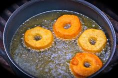 Canned Biscuit Campfire Doughnuts!  You can't always have smores!!!!  You just need oil, a pot, canned biscuits, and toppings! #Camping #Food