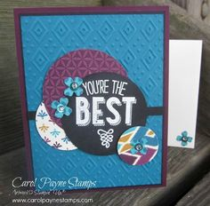 DIY Crafts, Stampin' Up!, Friendly Wishes, handmade greeting cards, paper crafts, Bohemian Designer Series Paper