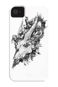 Skull and Nature Phone Case for iPhone 4/4s,5/5s/5c, iPod Touch, Galaxy S4