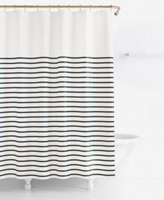 Churchill striped shower curtain