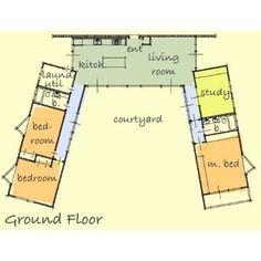 U Shaped House Plans With Courtyard 2 bedroom u shaped floor plans with courtyard | clutterus: a