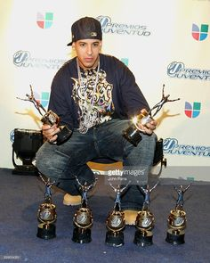 Daddy Yankee during 2005 Premios Juventud Awards - Pressroom and Backstage at University of Miami Convocation Center in Miami, Florida, United States.