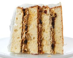 Filled with a boozy custard studded with raisins, pecans and coconut, this recipe for vanilla layer cake is based on one in Emma Rylander Lane's Some Good Things to Eat (self-published, 1898). From 21 Great Birthday Cakes - Photo Gallery | SAVEUR