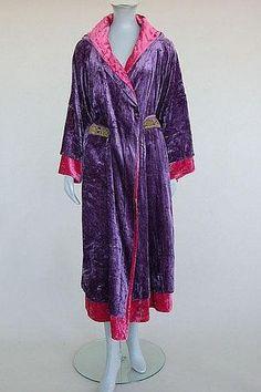 "Velvet house dress designed by Paul Poiret for Liberty of London, British, c. 1930. Label: ""Liberty by Poiret"""
