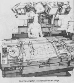 Rocketumblr — Syd Mead 2010: The Year We Make Contact Concept...