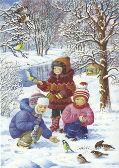 """Winter fun"" by Love Novoselov. Christmas Scenes, Christmas Art, Christmas And New Year, Winter Christmas, Vintage Christmas, Winter Images, Winter Pictures, Christmas Pictures, Illustration Noel"