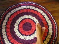 Картинки по запросу alfombra crochet redonda