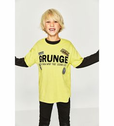 Image 1 of GRUNGE T-SHIRT WITH PATCHES from Zara
