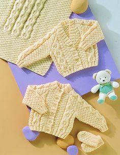 Stylecraft Baby Cardigans, Blanket & Mittens Special Knitting Pattern 4772  Aran | Knitting | Patterns | Minerva Crafts