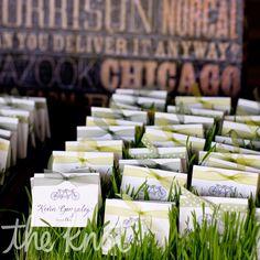 Wheat Grass Escort Cards