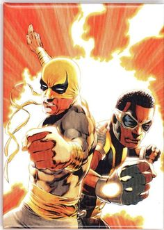 Power Man and Iron Fist Cover: Iron Fist and Power Man Posing by Emanuela Lupacchino Marvel Comics Poster - 61 x 91 cm Marvel News, Marvel Heroes, Marvel Comics, Iron Fist Marvel, Comic Poster, Comic Art, Punk Rock Outfits, Power Man, Luke Cage