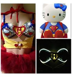 Light up Outfits for the girls this festival seasons, HELLO KITTY! http://festivalfanatics.com/festival-outfits/ #sexy #outfit #rave #PLUR #UMF #EDM