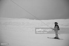 Stock Photo : kid using ski lift