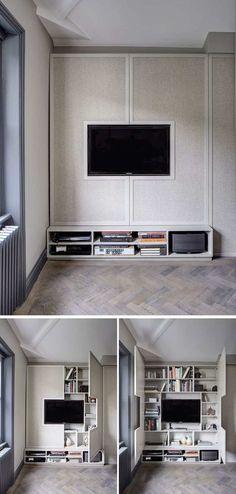 Wand-TV-Ständer für modernes Wohnzimmer  #modernes #stander #wohnzimmer