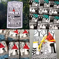 Photo montage of my tea towels