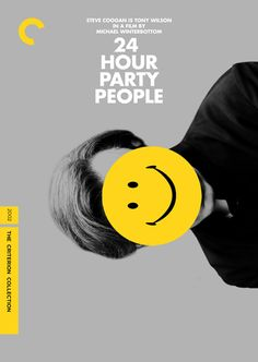 Póster de la edición Criterion de 24 Hour Party People.