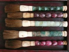 chinese brushes in antique box by the style files, via Flickr