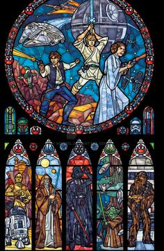 Star Wars Stained Glass by Marissa Garner