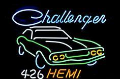 Big Dodge Challenger Hemi Neon Sign