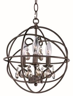 $198 Cleveland Lighting | Orbit - Three Light Chandelier