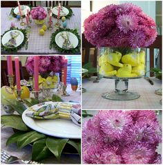 Easter Table, Magnolia Chargers, Peeps Marshmallow centerpiece
