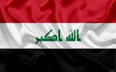 Indir duvar kağıdı Irak'ta Irak bayrağı, Irak, Ortadoğu, bayrak, ulusal bayrak