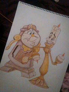Cogsworth and Lumiere from Beauty and the Beast