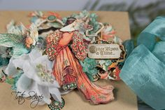 Tati, Enchanted Forest, Square Tag & Pocket Album, Product by Graphic 45, Photo 6