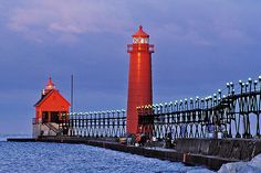 first light | Lighthouse and pier at Grand Haven, MI | Ed Post | Flickr