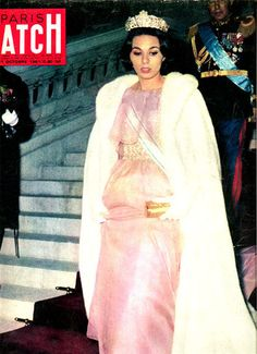 Newly wed Queen Farah appears on the cover of French Paris Match magazine, October 1961. by Playing By Heart, via Flickr