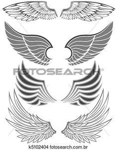 asas Ampliar Ilustração
