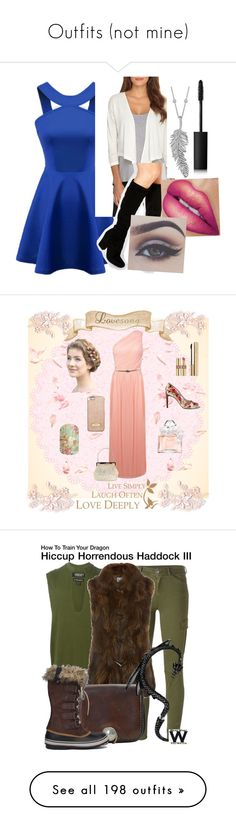 """""""Outfits (not mine)"""" by miau-892 ❤ liked on Polyvore featuring Catherine Catherine Malandrino, ASOS, Penny Preville, Bellezza, NARS Cosmetics, Guerlain, Miss Selfridge, Yves Saint Laurent, MICHAEL Michael Kors and Dolce&Gabbana"""