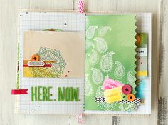 HOW TO: Instalove mini-book — by Leah Farquharson using the Amy Tangerine Sketchbook Collection from American Crafts.
