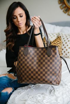 If you're in the market for a practical designer handbag, I'd recommend the LV Neverfull or Goyard St. I'm breaking down the pros & cons of both! Goyard Handbags, Louis Vuitton Handbags, Louis Vuitton Monogram, Louis Vuitton Checkered Bag, Louis Vuitton Neverfull Mm, Lv Tote, Goyard Tote, Louis Vuitton Taschen, Authentic Louis Vuitton