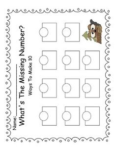 Groundhog Ways to Make 10 First Grade Math, Grade 1, Teacher Stuff, Teacher Pay Teachers, Groundhog Day, Making 10, Math Classroom, School Ideas, February