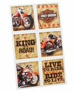 Hallmark 161105 Harley-Davidson Stickers by Hallmark. $0.94. Kids' Party Supplies. Harley Davidson. 4 sheets included in package with 6 different stickers on each. This product is officially licensed by 2010 H-D, Harley-Davidson All Rights Reserved.. Save 50%!