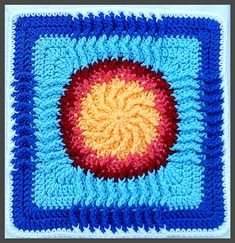 August Sun - WWBAMCAL pattern by Donna Kay Lacey. Available from Ravelry as a free download.