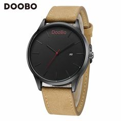 DOOBO Sports Watch Mens Masculino Quartz Suede Leather Strap Fashion Noble Dial with Auto Date Waterproof Wistwatch Relgio Saat #Affiliate