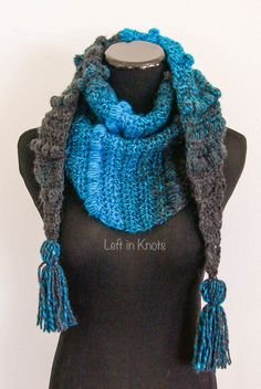 This project will give your Scarfie yarn a modern twist!  Join me in day  three of the Seven Days of Scarfie with this stylish new mod scarf pattern.