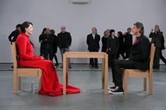 At her 2010 MoMa retrospective Marina performed 'The Artist Is Present' as part of the show, where she shared a minute of silence with each stranger who sat in front of her. Ulay arrived without her knowing and this is what happened.
