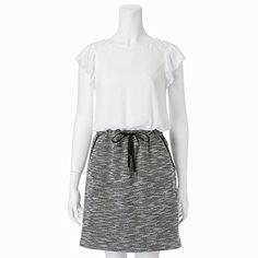 Amazon.co.jp: レストローズ(LEST ROSE) ツイードウエストリボンワンピース【110ホワイト/2(M)】: 服&ファッション小物通販