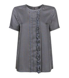 MAX MARA Ruffle Square Print Top. #maxmara #cloth #
